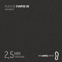 PLACA • EVAPOD28 FURADO GRAFITE 2,5MM • 800 X 410MM