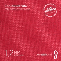PLACA • RESINA COLORFLUX VERMELHA 1,2MM • 900 X 450MM