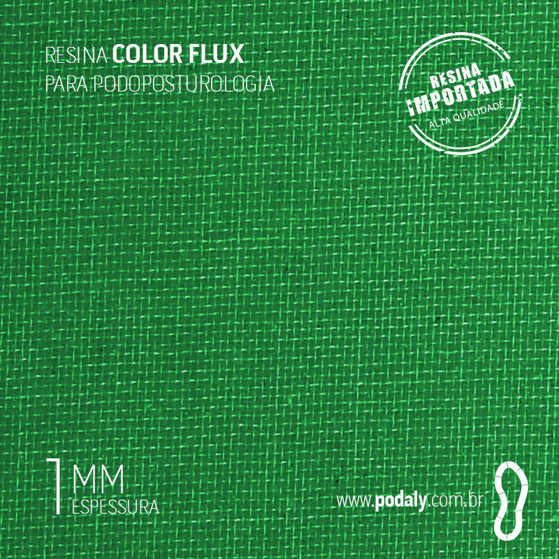 RESINA COLORFLUX VERDE 1MM 1000MM X 490MM
