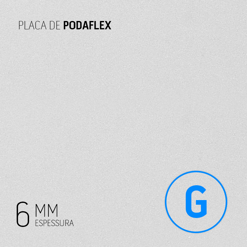 PLACA PODAFLEX 6MM 600MM x 480MM